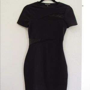 Express Black dress with mesh cut outs